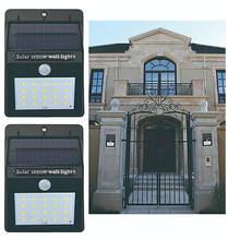 ソーラーウォールライト ドアライト Pir モーションセンサー防水ガーデン太陽光発電ウォールライト省エネソーラー充電式