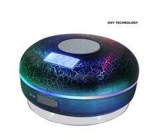 Беспроводной bluetooth-динамик для душа, Водонепроницаемый IPX7 с ЖК-дисплей, fm-радио, Bluetooth, NFC, 2600 мА/ч, трещина свет, сабвуфер, совместимый со всеми клетки