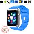 Conectar android sim a1 relógio inteligente homens de fitness relógio toque PK para xiaomi huawei apple smart watch kw18 inteligente relógio bebê q50