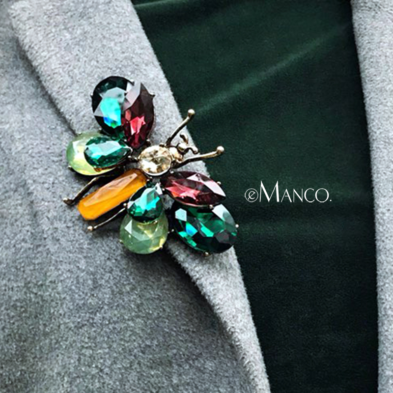 eManco Wholesale Green Vintage Butterfly Brooches Pins Animal&Insect Crystal Brooch Clothing Accessories Fashion Jewelry цена 2017