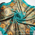 New Design Bandanas Muslim Hijab Silk Square Scarf Luxury Brand For Women Big Size Multi Headband Shawl