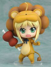 Cute Anime Fate/stay Night  Zero Lion Suit Saber Altria Pendragon 10CM PVC Action Figure Toy Collection Model Gift