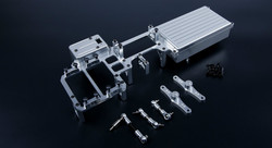 CNC alloy dual servo tray /equipment box 87079 for 1/5 rc car parts losi 5ive t ,rovan lt