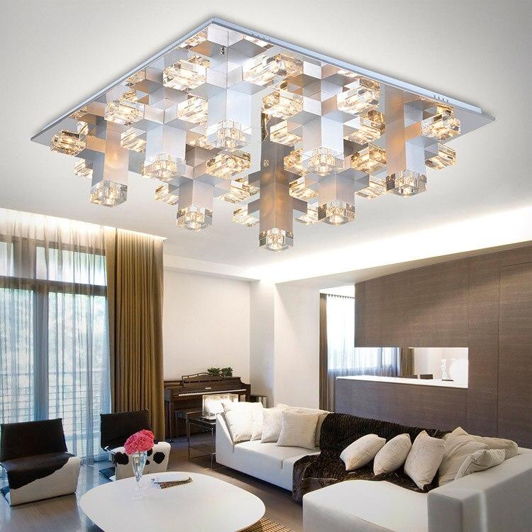 US $225.94 |Moderne Aluminium Kristall Schlafzimmer Decke Lampen Luxus  Wohnzimmer Decke licht Esszimmer restaurant Decke Lampe-in Deckenleuchten  aus ...