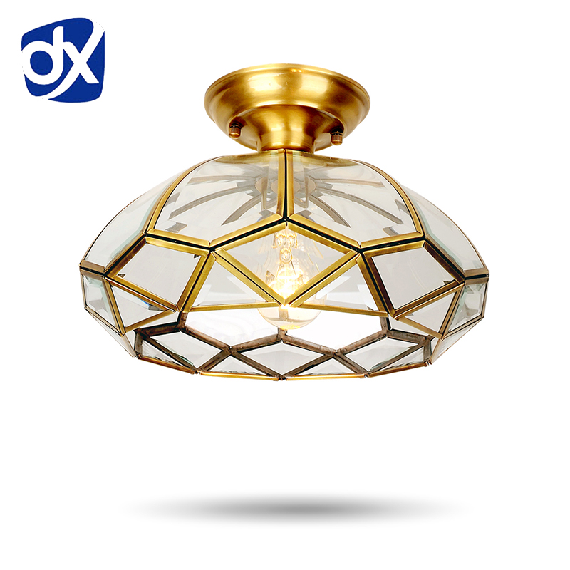 Copper Ceiling Lights For Balcony Aisle Entrance Ceiling Lamp Indoor LED Modern Ceiling Lamps Fixtures lamparas de techo crystal pendant lights aisle lighting small lamps lights modern ceiling balcony lamp led lamps small entrance hall