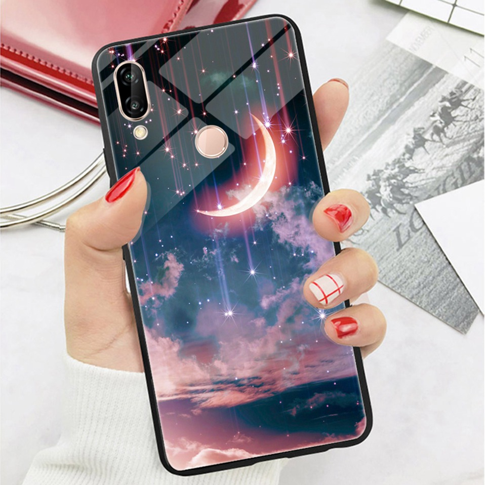 Glass Case For Huwei P20 Lite Nove 3 2i Silicone Anime Case For Huawei Honor Play 9 7A Mate 10 20 Lite P20 Pro P Smart Y6 2018   (16)