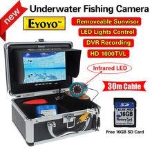 Free shipping!EYOYO CR110-7LDVR30M 30m 7″ LCD Underwater Video DVR Camera IR 16GB Fish Finder Night Vision Sea