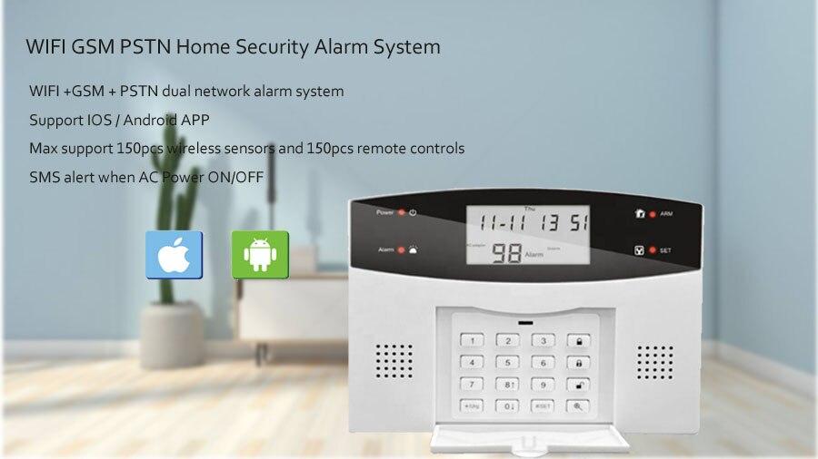 sem fio & com fio detectores alarme