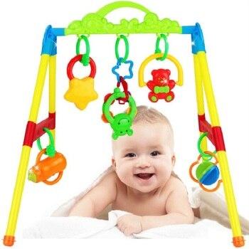 בייבי פעילות חדר כושר מסגרת תינוקות מוקדם חינוכית פלסטיק צעצועי רעשנים מוביילים