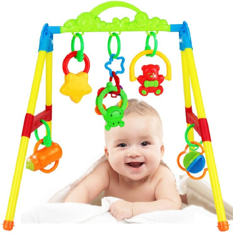 Baby Activity Gym Frame Newborns Infant Early Educational Plastic Toys Rattles Mobiles
