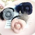 Корея Соболь Мяч Цветы Повязка Для Женщин Аксессуары Для Волос Перл Подвеска Волос Галстуки Бабочка Резинки для Hair Bows 4