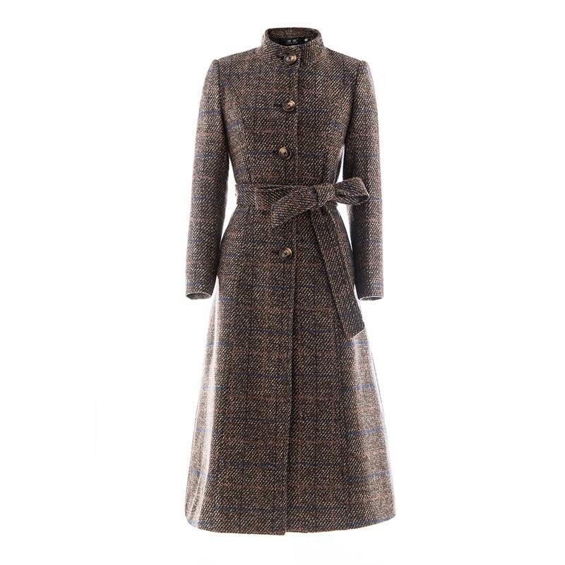 Vangull Woolen coat women high quality Classic Long wool coats 2019 New Wool Jackets Trench winter