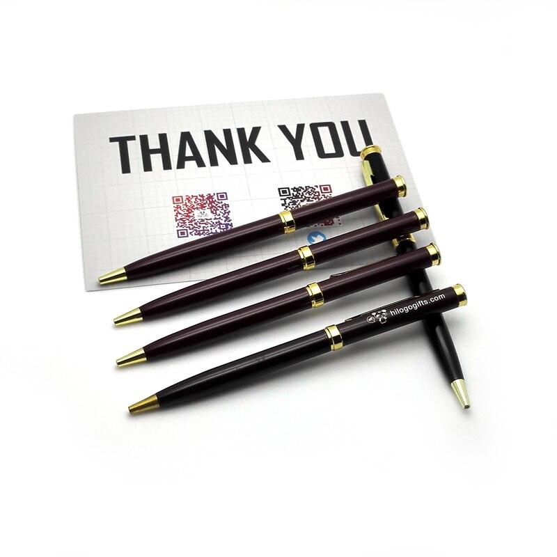 Aggressiv 2017 Kawaii Roller Pen 16 Gr/teil Braun Gold Farbe Metall Ball Roller 10 Stücke Viel Kundenspezifische Mit Personalisierte Logo Text