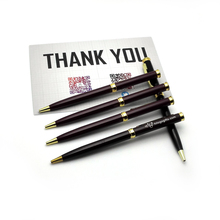 2015 new  gel pen set kawaii 16g/pc brown gold color metal ball roller pens 10pcs a lot customized with personalized logo text