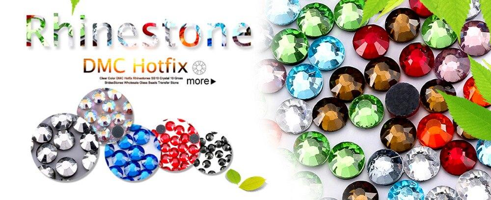 Quality DMC FULL PACK 288 ss30 Crystal AB Iron-on Hotfix Rhinestones UK SELLER
