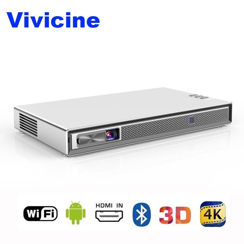Vivicine T5 4 k Mini Projetor, Android 6.0 Do Bluetooth 4.2, 4000 mAh da bateria, inteligente Proyector Beamer HDMI USB PC Jogo para Celular