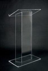 Darmowa wysyłka gorąca sprzedaż nowoczesne akrylowe mównica/wysokiej jakości akrylowe podium tanie podium kościelne w Meble kinowe od Meble na