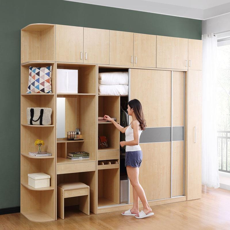 Clothing Mobili Per La Casa Lemari Pakaian Yatak Odasi Mobilya Storage Retro Wooden Closet Cabinet Furniture Bedroom Wardrobe