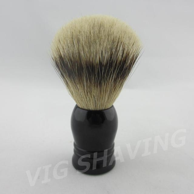 Style #3 SilverTip Badger Shaving Brush Faux Ebony color Resin Handle in black