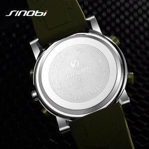 Image 3 - SINOBI reloj deportivo de cuarzo Digital para hombre, reloj Masculino de pulsera, resistente al agua, de cuarzo, Geneva Hybird, erkek kol saati