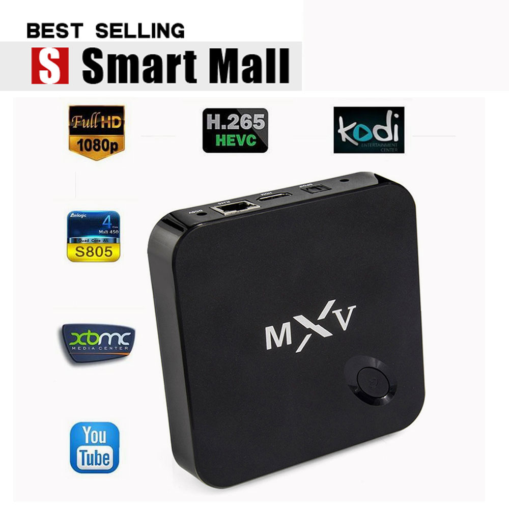 MXV MX5 Amlogic S805 Android 4.4 TV BOX Quad Core 1.5GHZ 1G/8G Full HD 1080P H2.65 HEVC bluetooth 4.0 HDMI 2.0 Kodi 14.2 install - Shenzhen Fuloophi Store store