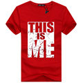 2016 summer this is me letter printed Men's big size tees T-shirts male short-sleeve t shirt big size men tops shirts