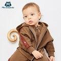 Bebê Meninos Outono Conjuntos de Roupas de Inverno Infantil Manga Comprida Engrosse Com Capuz Da Camisola + Calças 3PCS Bonito Terno Roupas de Recém-nascidos