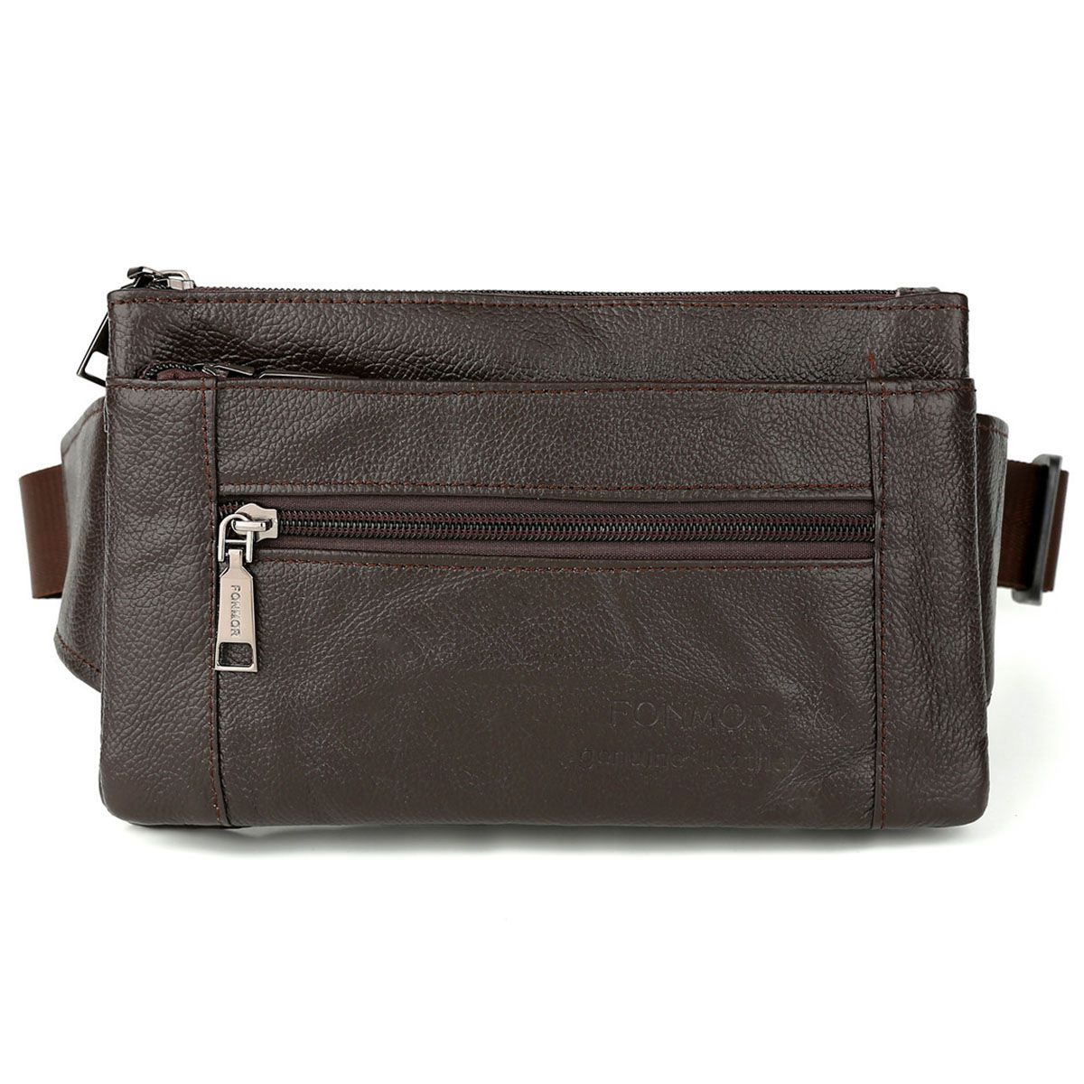 AFBC FONMOR Waist Packs Fanny Pack Belt Bag Phone Pouch Bags Travel Waist Pack Male Small Waist Bag Leather Pouch(Brown)