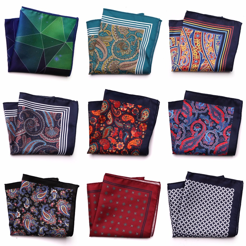 Gentlemen Pocket Square Paisley Hanky For Wedding Dress Party Handkerchief