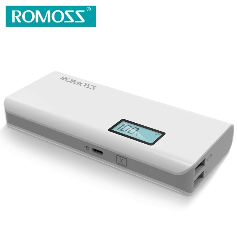 imágenes para ROMOSS Sense4 Plus con PANTALLA LCD Indicador de Batería Banco de la Energía 10400 mAh Cargador de Batería Portátil 18650 Dual USB de Salida