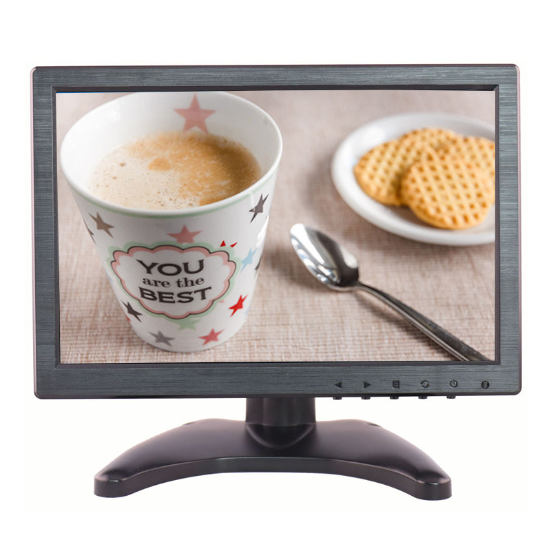 "10.1"" 16:9 4 wire resistive touch screen monitor with 1280*800 resolution with AV/BNC/VGA/HDMI/USB input"