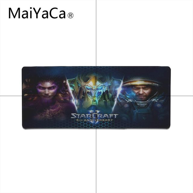 MaiYaCa  Starcraft Laptop Gaming Mice Mousepad Locking Edge Rubber Large Mousepads for DOTA2 Game Playing Lover 4