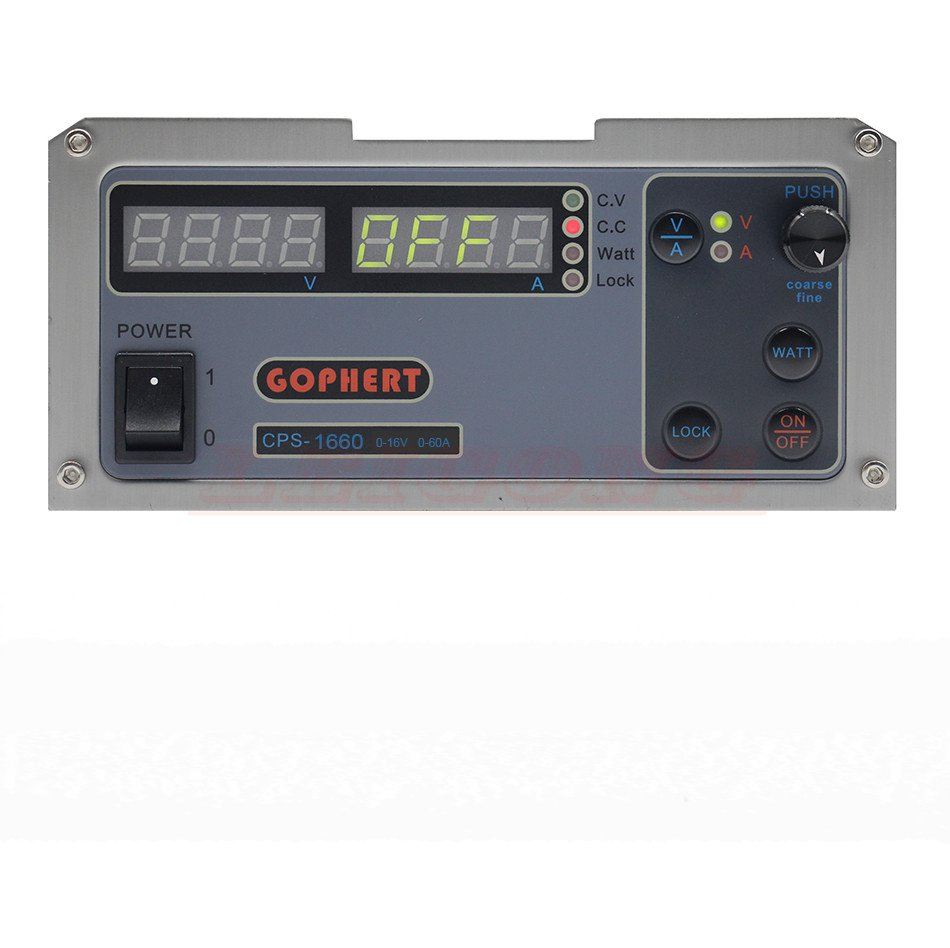 Gophert DC switching power supply CPS-1660 output 0-16V 0-60A adjustable measurable power