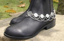 Punk Foot Jewelry Anklets for Women Coin Tassel Boots High Heel Chains Feminina Pulseira Row Heels Chain Anklet 1pc