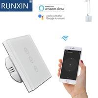 Wifi カーテンスイッチタッチスクリーンによって制御スマートフォン Amazon で動作アレクサ、 google アシスタント -