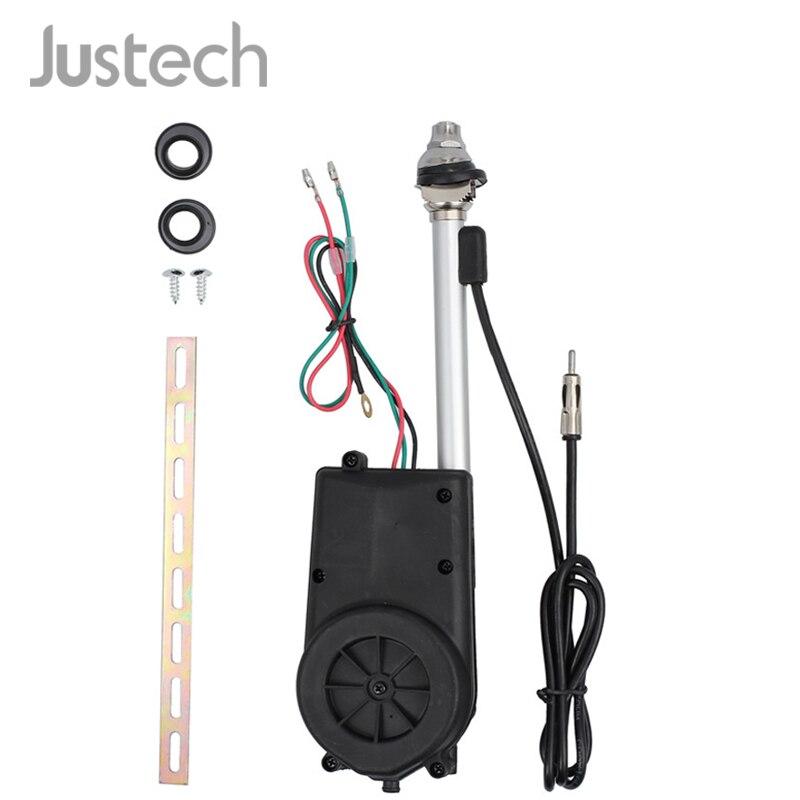 Justech Универсальная автомобильная антенна 12 В электрическая автоматическая малошумная для SUV Jeep Toyota Mercedes Benz AM FM мачта радио антенна