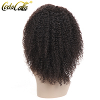 Code Calla Brazilian Short Bob Front Lace Wigs Kinky Curly 13x4 Lace Frontal Bob Wigs 150% Density Pre Plucked Natural Hairline