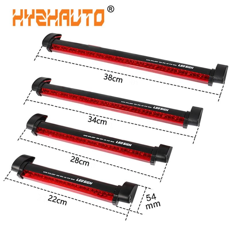 Hyzhauto 1 pçs 12 v vermelho carro led terceira barra de luzes freio traseiro lâmpada sinal estacionamento caminhão alta montagem parar luz advertência universal