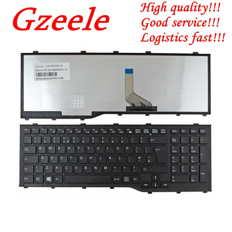 GZEELE NEW For Fujitsu Lifebook A532 AH532 AH532/GFX N532 NH532 UK Laptop Keyboard QWERTY (Standard) KB010947