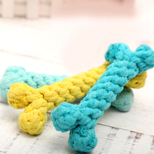 Cotton Rope Chew Dog Toys Bone Toy Molar Teeth Bite Resistant Interactive Dog Toy Teeth Cleaning Juguetes Perro Pet Play 50DC064 us pawise stick vocal utterance bone elasticity books molar dog interactive toys