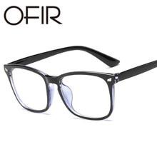 0fbe9b7468 OFIR 2019 New Popular Computer Glasses Frame Women Men Anti-blue Radiation  Protection Flat Mirror Square Myopia Frame Eyeglasses