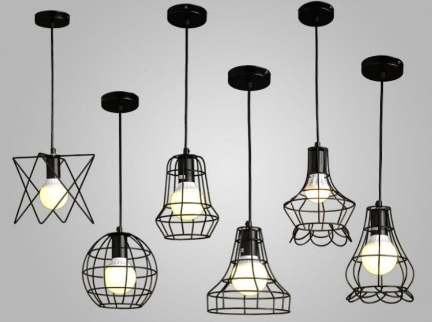 Nordic loft retro industrial style iron pendant lights creative personality guest restaurant Internet cafes pendant lamps vintage pendant lights iron loft lamps nordic retro light industrial style cage pendant lamp restaurant lighting pendant lustre