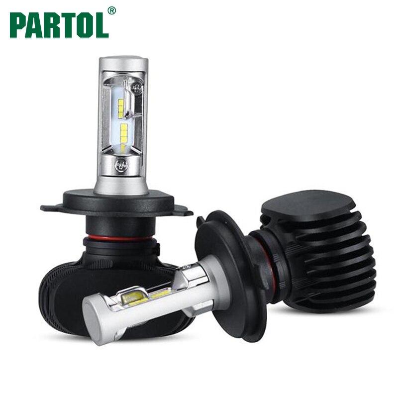 Prix pour Partol 50 W 8000LM H4 H13 H7 H11 9005 9006 LED Phare De Voiture ampoules CREE Puces CSP LED Phares Tout en un Tête Lampe Avant lumière