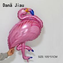 Pink flamingo balloons happy birthday party balloon wedding decoration holiday festival animal ball kids toy(China)