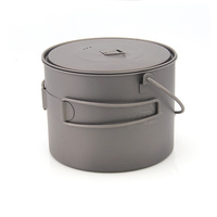 TOAKS POT 1300 BH Titanium Bowl Titanium Pot Hanging Pot With Cover Outdoor Camping Cookware 1300ml