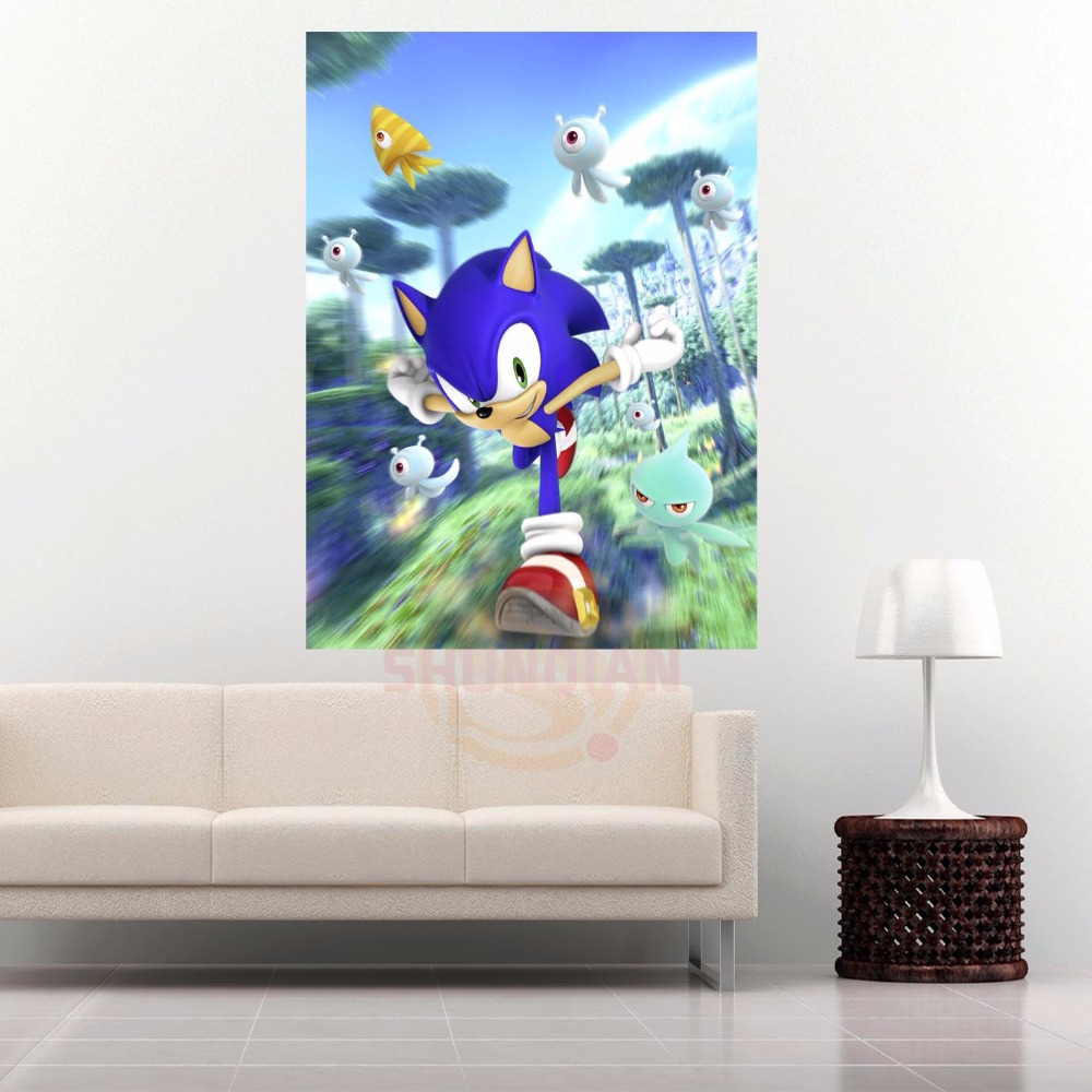 G928 sonic boom #q Canvas Painting Wall Silk Poster cloth print Custom  Print your image Fabric Poster-in Wall Stickers from Home & Garden on  Aliexpress.com ...