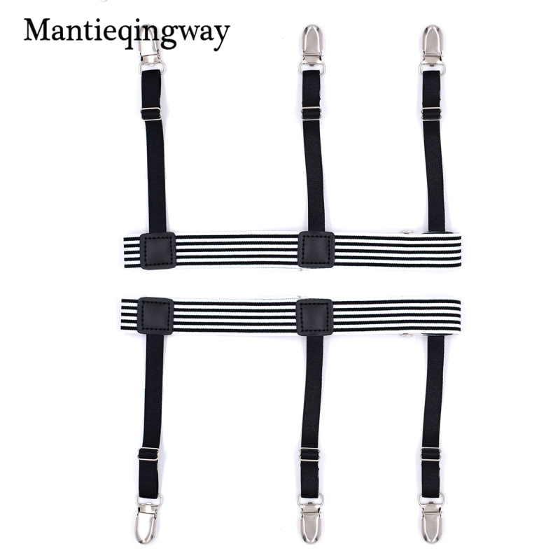 Good Mantieqingway Mens Shirt Belt Leg Tirantes Hombre Mens Stocking Suspensorio Holders Stays Crease-resistance Adjustable Garters Men's Accessories Apparel Accessories