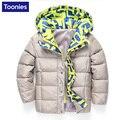 Abajo Chaqueta 2016 de Los Niños de Invierno Abrigos Niños Moda Casual Caliente Niños y Niñas Chaquetas de Lana Gruesa ropa de Abrigo Ropa de Abrigo