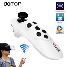 DOITOP Universal Bluetooth VR Case Glasses Remote Control Portable Mini Wireless BT Mouse Joystick Gamepad For Android/IOS/PC A3