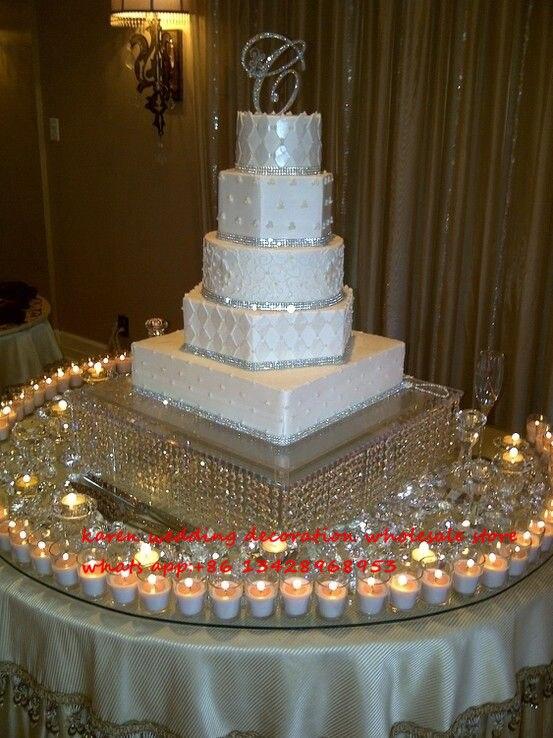 50 cm diamètre grand gâteau de mariage stand bougeoir cristal acrylique maîtresse de mariage props décoration